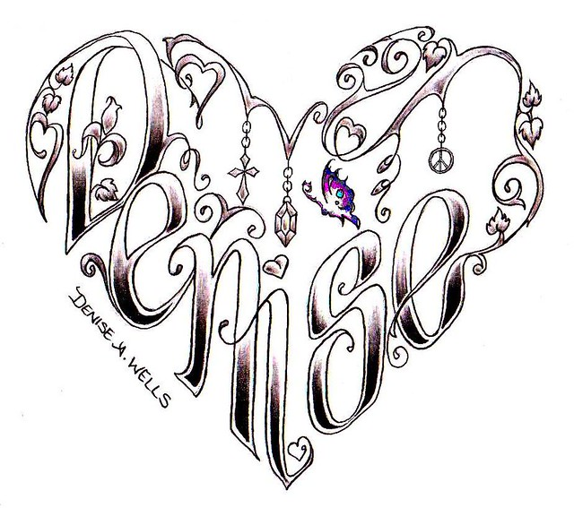 Heart and Name Tattoo Designs