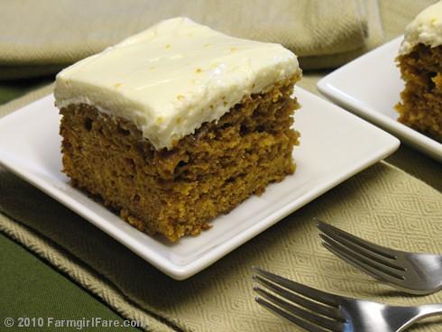 Pumpkin Spice Cake with Orange Cream Cheese Frosting | Flickr - Photo ...