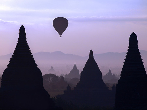 Sunrise over Bagan