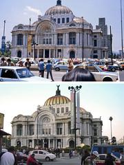 Antes y después - Palacio de Bellas Artes, Ciudad de México