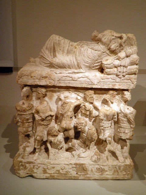 Cinerary Urn with Lid: Reclining Women with Inscribed Name, Italia Antiqua: Etruscans and Romans (Altes Museum, Berlin)