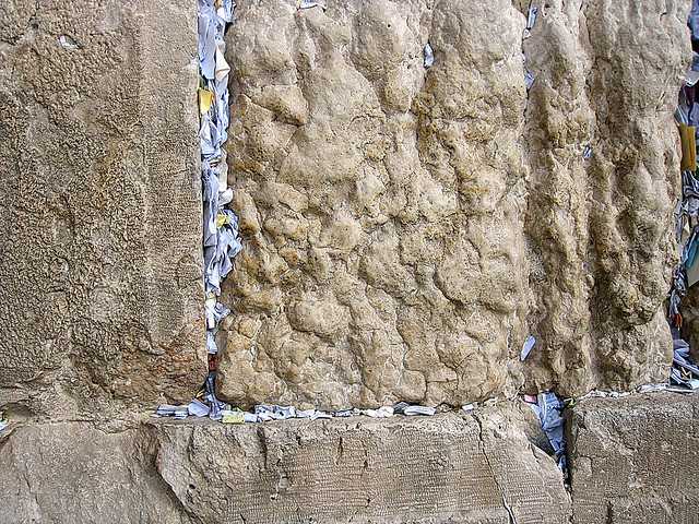 Prayer Notes In The Western Wall