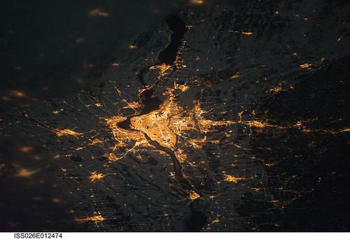 Montreal at Night (NASA, International Space Station, 12/24/10)