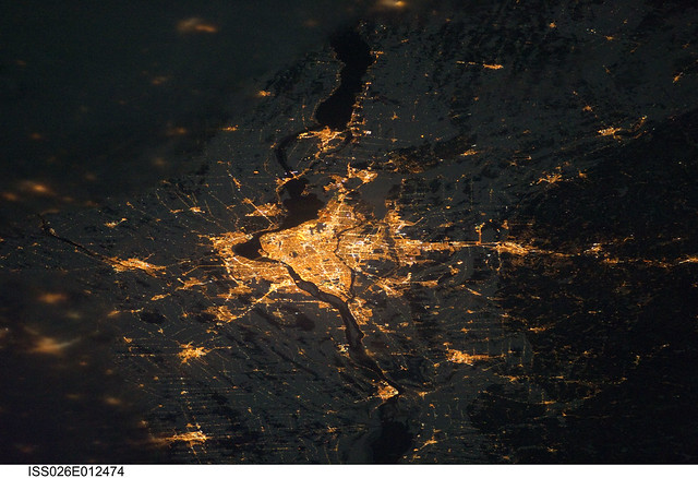 Montreal at Night (NASA, International Space Station, 12/24/10)