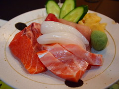 meal, salmon, sashimi, fish, produce, food, dish, cuisine, smoked salmon,