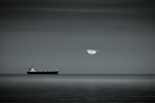Moonrise over Dublin Bay