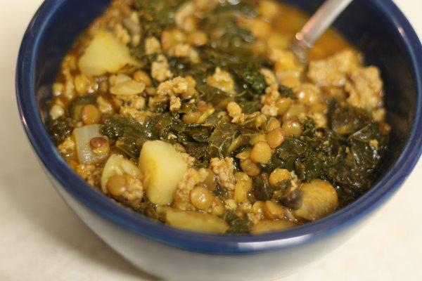 Sausage, Lentil, & Kale Stew