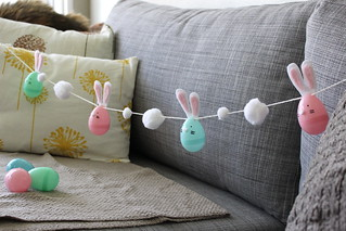 egg bunnies on a string