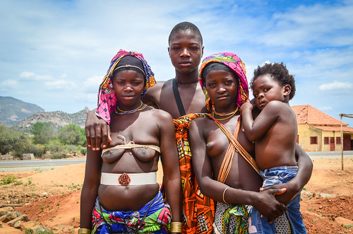 Mucuval people in Munhino, Angola