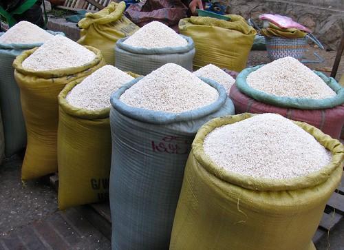 Sacos de arroz