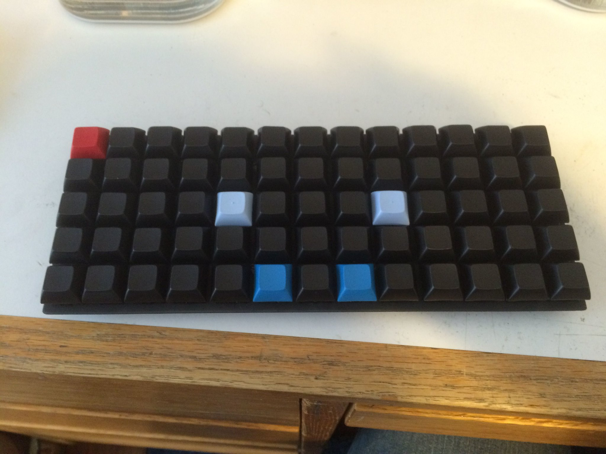 Test fitting switches and keycaps after painting