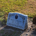 Helen J. Wooten Headstone in Evergreen Cemetery (black cemetery)