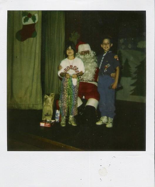 old christmas polaroid