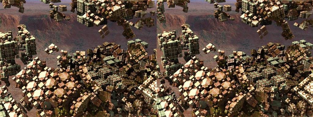 Mandelbox over Arizonian crater | Mandelbox created using th