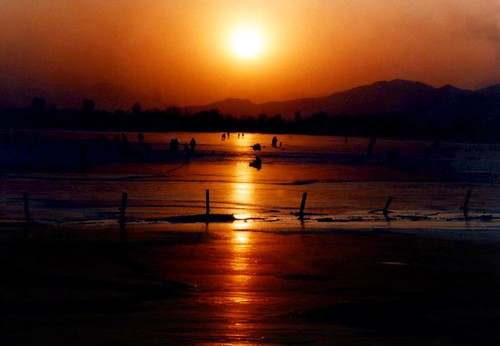 Sunset in Kuminghu Lake,Beijing