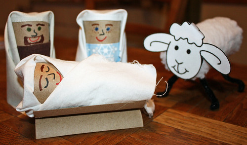 toilet roll nativity scene