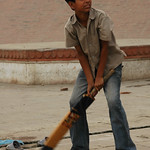 Cricket Along the Ghats - Varanasi, India