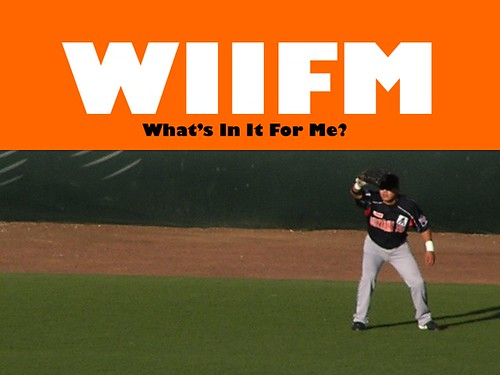 WIIFM (What's in it for me?)