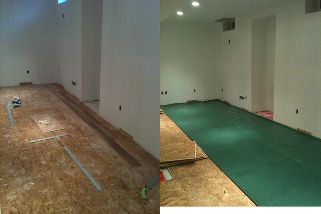 Laminate flooring basement laminate flooring underlayment for Wood floor underlayment