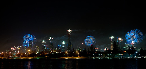 Midnight Fireworks in Melbourne #nyemelb