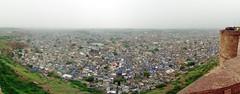 Overview of Jodhpur under the rain