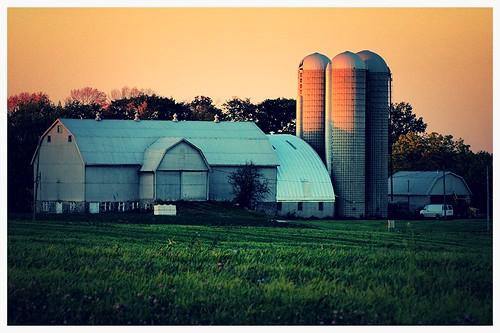 sunset texture barn rural shadows farm niagara silos summery