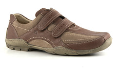 textile(0.0), maroon(0.0), athletic shoe(0.0), walking shoe(1.0), outdoor shoe(1.0), brown(1.0), footwear(1.0), shoe(1.0), leather(1.0), khaki(1.0), beige(1.0), tan(1.0),