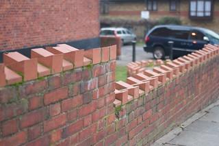Anti-sit brickwork