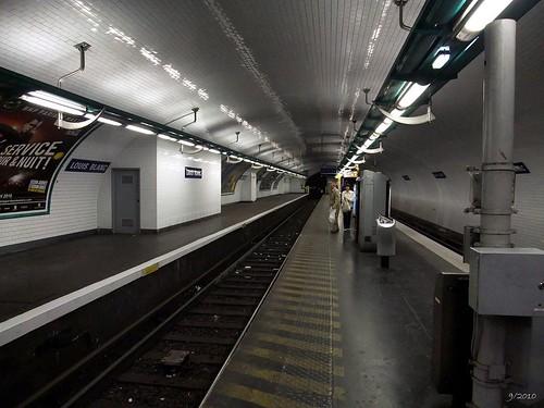 Metro station Louis Blanc: Paris: September 2010 v5