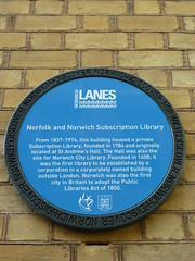 Photo of Norfolk and Norwich Subscription Library blue plaque