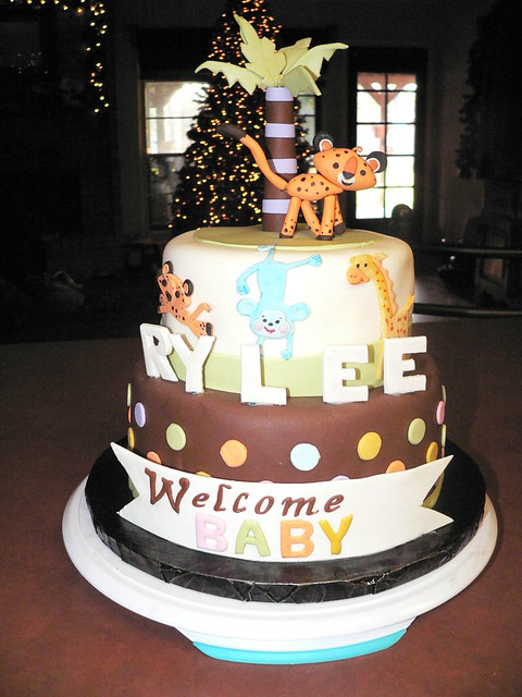 baby animals cake baby animals baby shower cake by taylor made