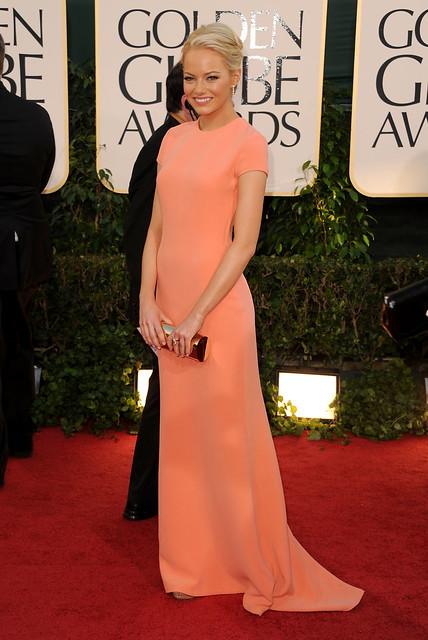 Emma Stone in Calvin Klein e Van Cleef & Arpels