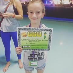 Elli graduating from her skate class 💃