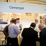Delegates at the Cemengal Exhibition Booth