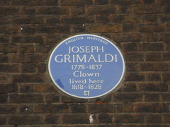 Photo of Joseph Grimaldi blue plaque