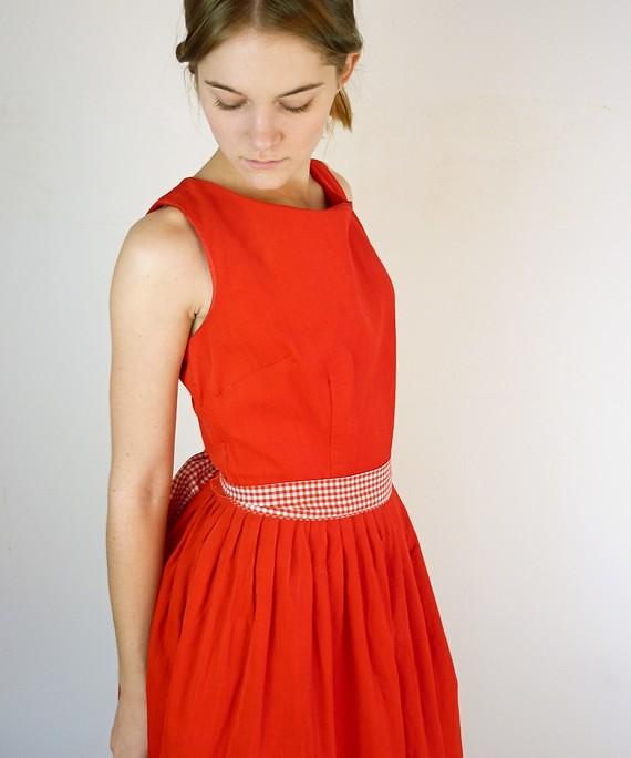 1950's Carol Brent Holiday Dress