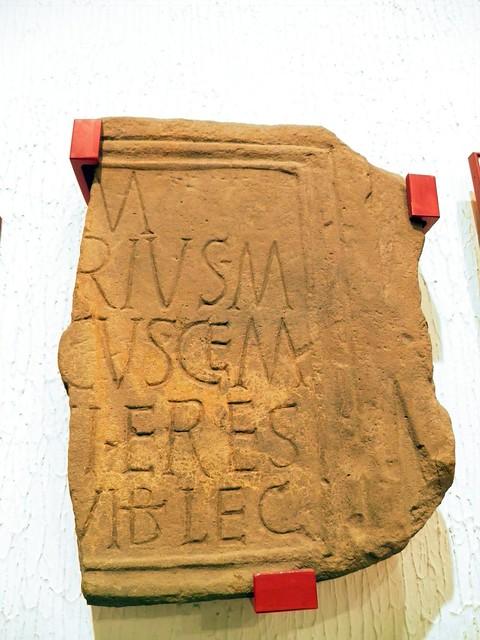 Marcus Valerius [Tus]cus - Beneficiarus, National Roman Legion Museum