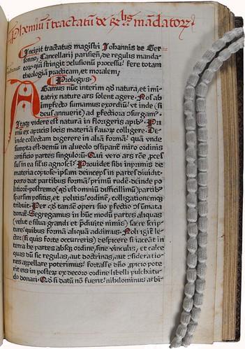 Manuscript rubrication in Gerson, Johannes: Conclusiones de diversis materiis moralibus, sive De regulis mandatorum