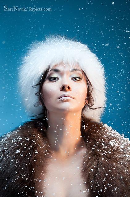 Beautiful Mongolian warrior woman   Beauty shoot of