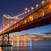 """Holiday Bay"" - San Francisco Bay Bridge Skyline"