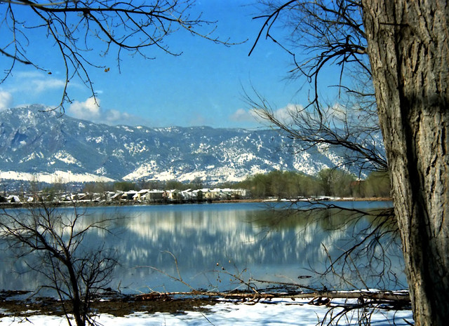 Rocky Mountain Winter Reflection in Spring - Boulder, USA