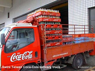 Swire Taiwan Coca-Cola delivery truck in Taoyuan