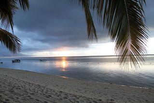 Beach at nightfall