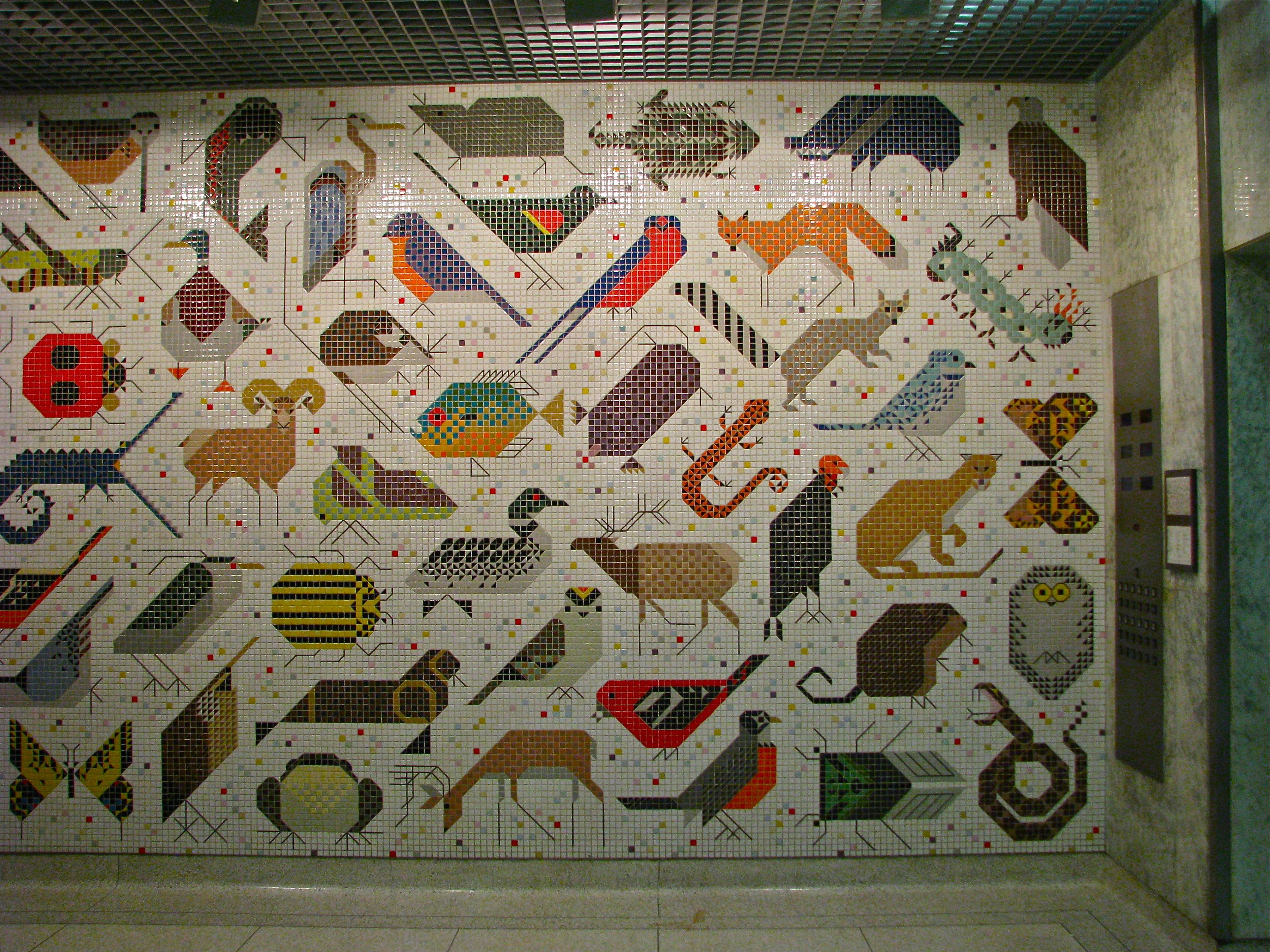 charley harper mosaic john weld peck federal building