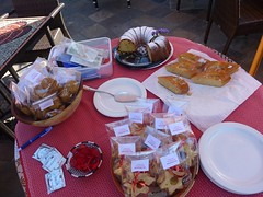 World Aids Day 2010 - Cake Sale :: The Backpack Cape Town posted a photo: 	   The cake table.  World Aids Day 2010 - Cake Sale  This year we decided to have a cake sale and donate the proceeds to the Baphumelele Childrens home in Khayelitsha.  All the staff members baked something and Thando sold the cake to guests and businesses in the area.