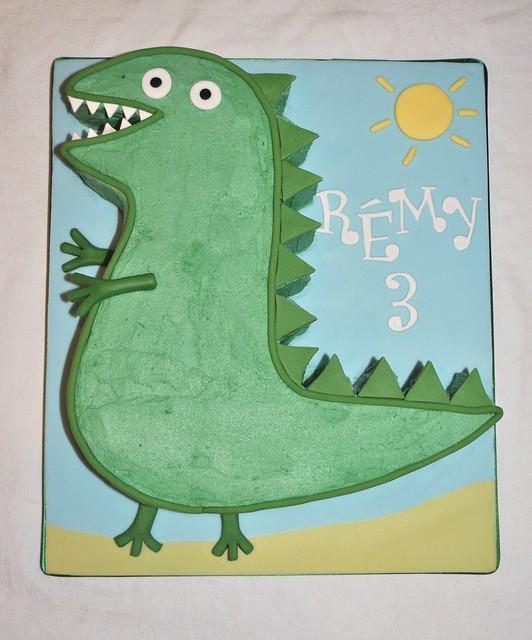 George And Mr Dinosaur Cake