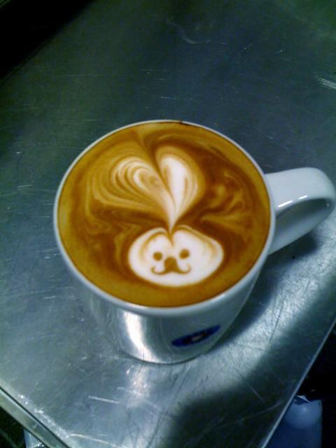 マグうさぎです #coffeeJP #latteart