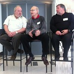 Computing legends: Donald Knuth, Al Acorn and Steve Wozniak open new Computer History Museum exhibit.
