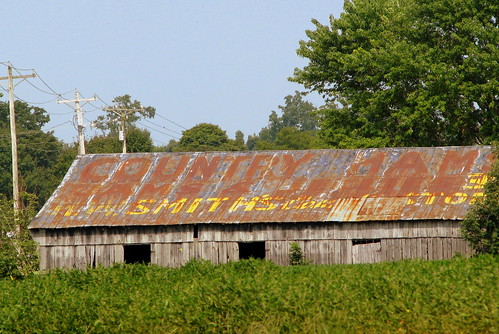 Country Hams advertising Barn