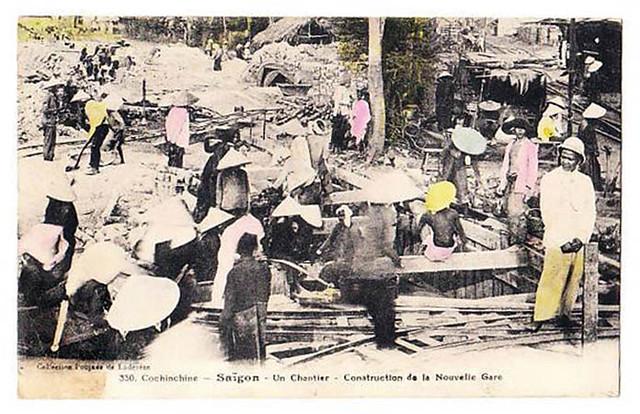 Saigon - Le chantier de construction de la Nouvelle Gare